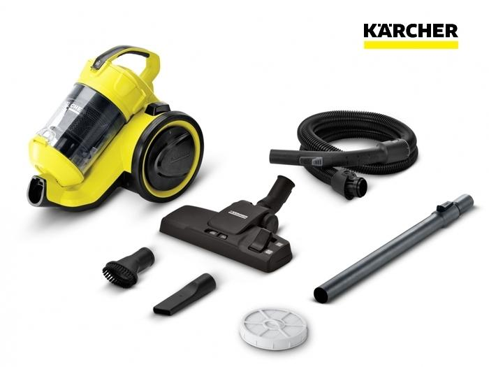 aspirateur sans sac vc3 jaune 700w karcher fournitures industrielles. Black Bedroom Furniture Sets. Home Design Ideas