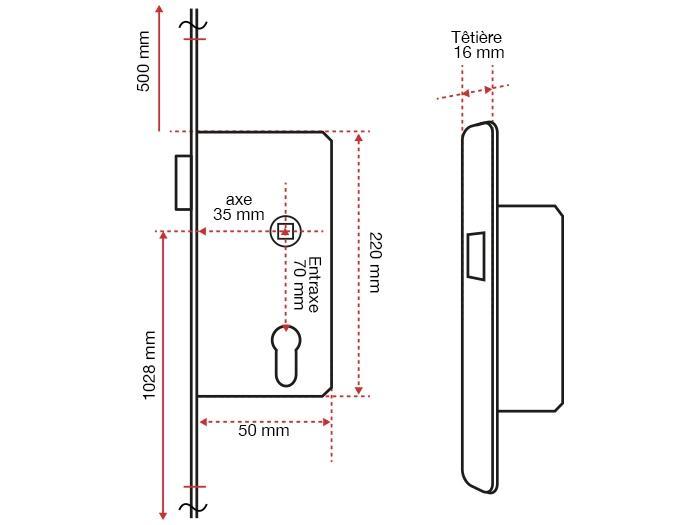 cr mone de porte fen tre ferco 22782 quincaillerie. Black Bedroom Furniture Sets. Home Design Ideas