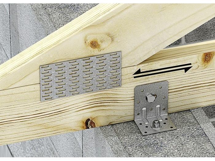 Querre renforc e er charpente ossature bois simpson quincaillerie - Equerre de fixation charpente ...