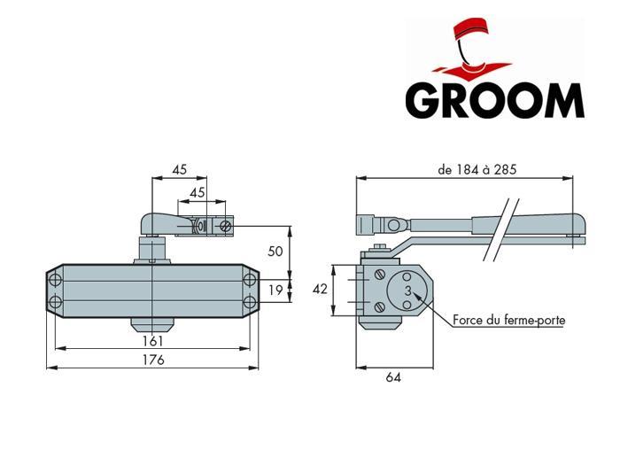 Groom Porte Elegant Pivot De Sol Et Ferme Porte Groom Fermetures Gr - Groom porte lourde