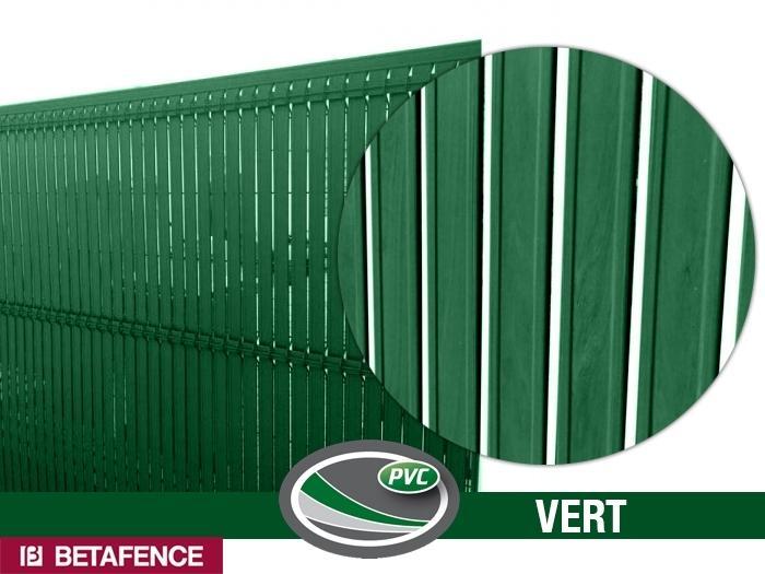 kit occultation pvc vert pour panneaux nylofor 2m50. Black Bedroom Furniture Sets. Home Design Ideas