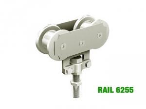 Monture fixation sur chant galets acier longue M14 0265L rail 6255
