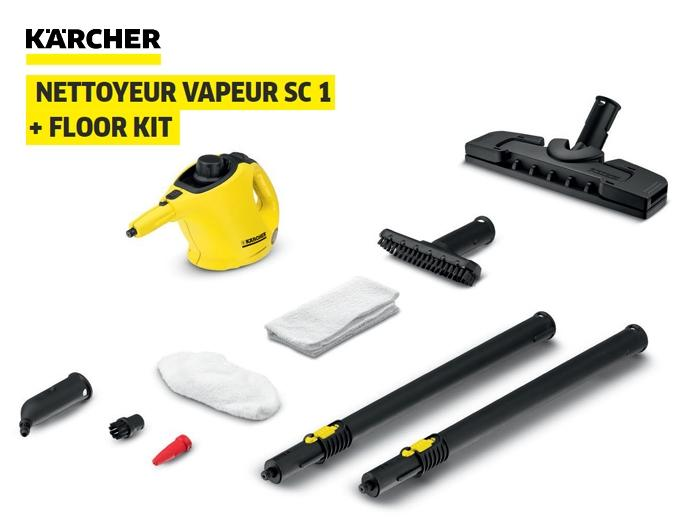 nettoyeur vapeur sc1 kit sol karcher fournitures industrielles. Black Bedroom Furniture Sets. Home Design Ideas