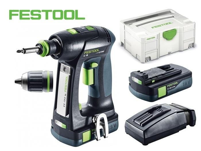 perceuse visseuse sans fil c 18 li 3 1 compact festool outillage. Black Bedroom Furniture Sets. Home Design Ideas