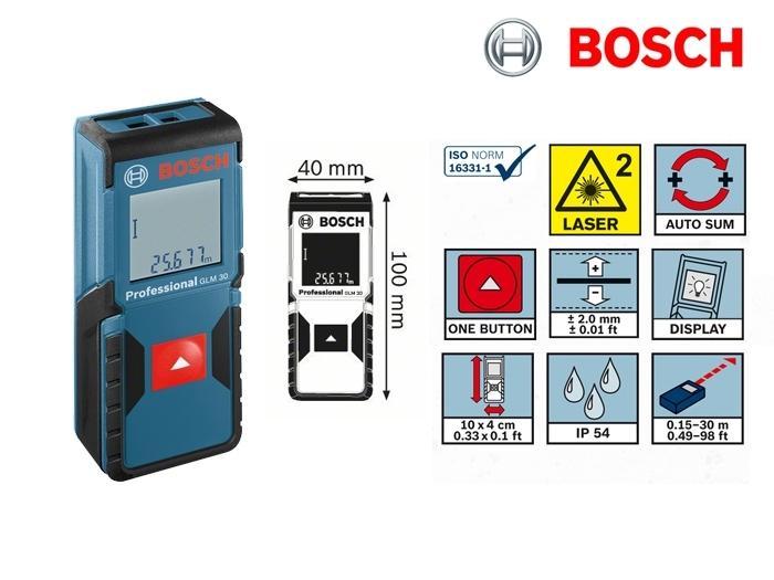 T l m tre laser glm 30 bosch 0601072500 outillage - Telemetre laser bosch ...